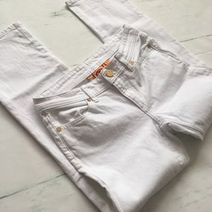 Tory Burch White Cropped Denim Jean